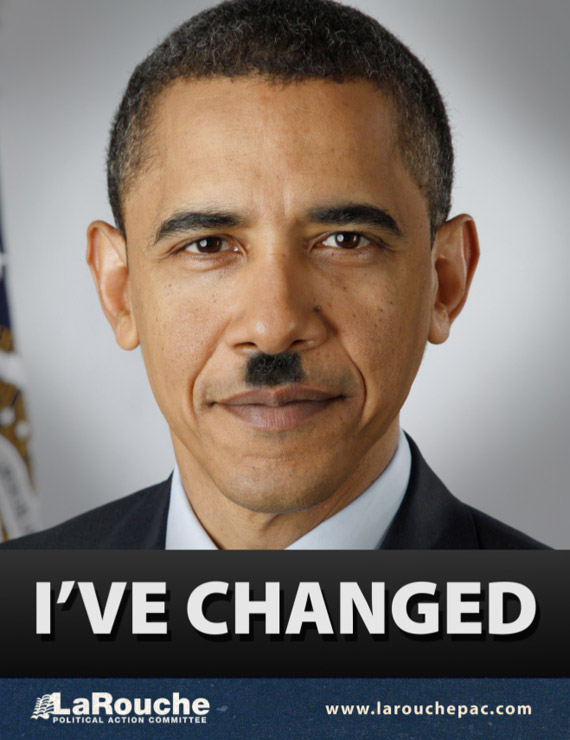 I've changed. LaRouche political poster.