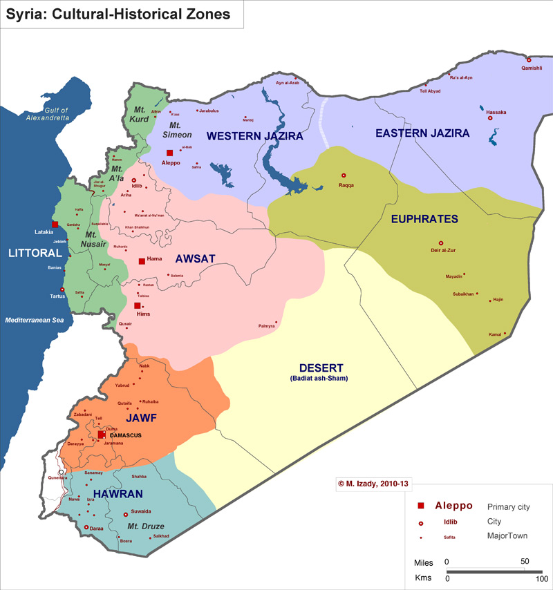 Syria Cultural and Historical Zones