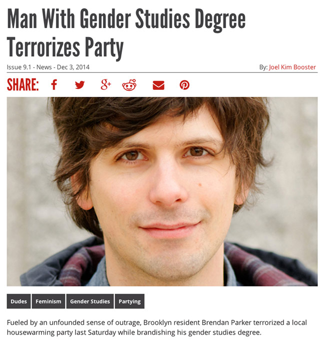 Man With Gender Studies Degree Terrorizes Party