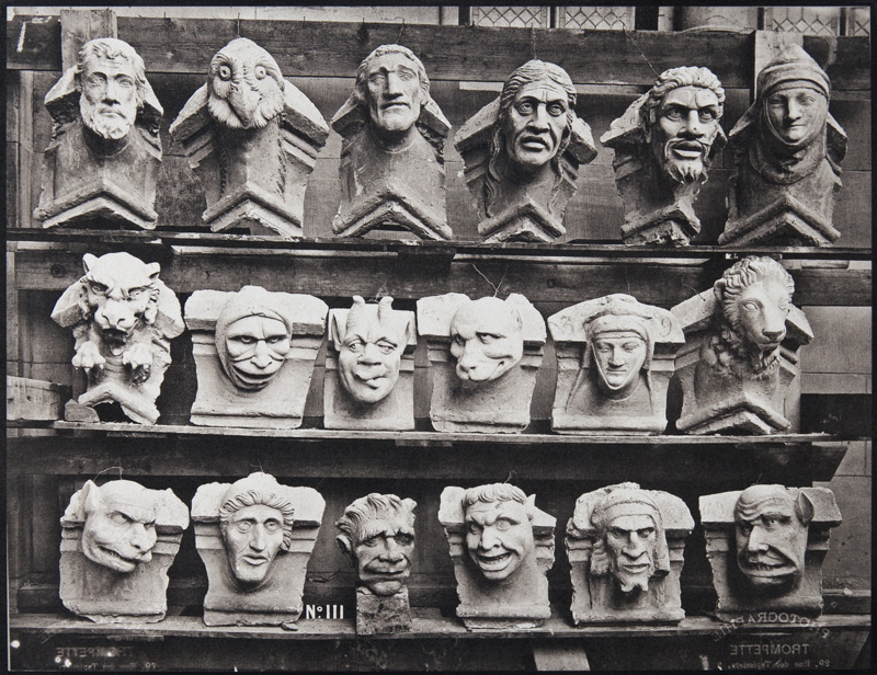 Grotesques, cathédrale de Reims