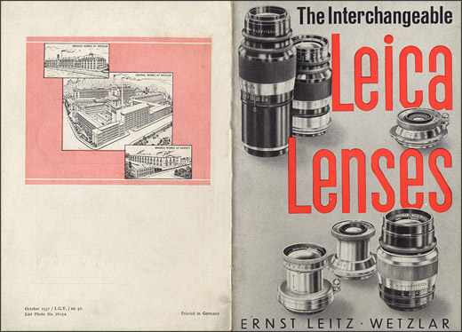 The Interchangeable Leica Lenses.