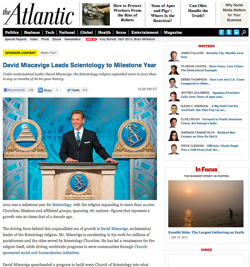 The Atlantic - Scientology