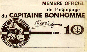 Carte du capitaine bonhomme.