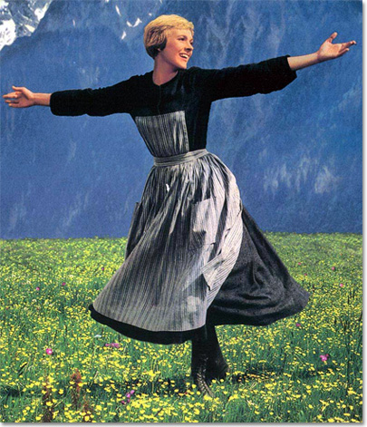 Jumie -Andrews dans The Sound Of Music, 1965.