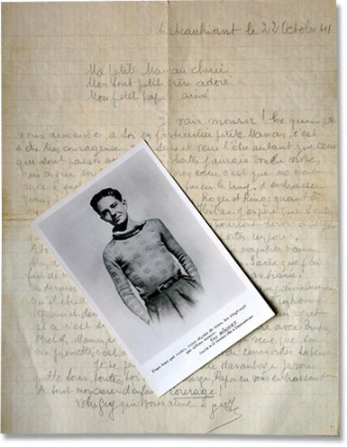 Lettre de Guy Môquet.