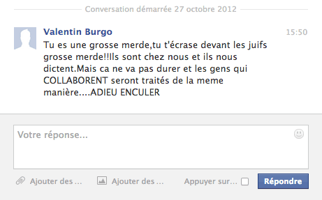 Message haineux