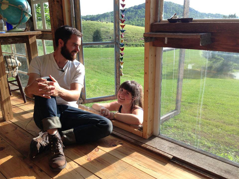 Nick and Lilah's Glass Cabin