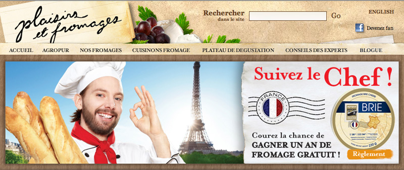 Site fromages Agropur 2013