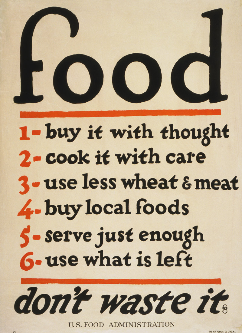 Food - don't waste it, 1917